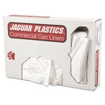 Jaguar Plastics Low-Density Can Liner, 33 x 39, 33gal, .7mil, White, 150/Carton