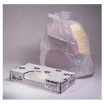 Jaguar Plastics Value-Can White Flat-Bottom Trash Bags, 45 Gallon, 0.7 Mil, Case of 100