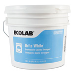 Ecolab Brite White Powder Laundry Detergent, 1.2 Oz, 250 Packets