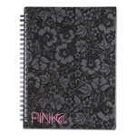 Mead® Pink & Black™ Pink & Black Professional Wirebound Notebook, 8-1/4 x 6-1/4, 70 Sheets