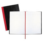 Black N' Red Casebound Notebook with Hardcover, Ruled, Black, 8 1/2 x 5 7/8
