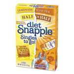Snapple Iced Tea Singles To-Go, Diet Lemonade/Iced Tea, 0.61 oz Stick, 6/Box