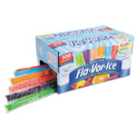 Fla-Vor-Ice® Fruity Freezer Bars, Assorted Flavors, 1.5 oz, 100/Box