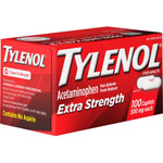 Johnson & Johnson Tylenol Extra Strength Caplets, 500mg, 100/BX