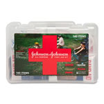 Johnson & Johnson First Aid Kit, All Purpose, 140 Items