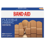 Band Aid Flexible Fabric Adhesive Bandages, Assorted, 100/Box