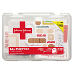 Johnson & Johnson All Purpose First Aid Kit, 140 Pieces, Plastic Case