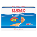Johnson & Johnson Flexible Fabric Premium Adhesive Bandages, 3/4 x 3, 100/Box