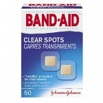 Band Aid Clear Spots, 50/BX