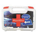 Johnson & Johnson Red Cross Emergency First Aid Kit, 110 Pieces, Plastic Case