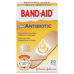 Band Aid Antibiotic Adhesive Bandages, Assorted Sizes, 20/Box