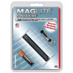 Maglite® Solitaire Keychain Flashlight, Black