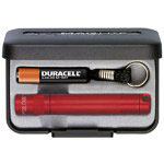 Maglite® Solitaire Flashlight Gift Box, Red