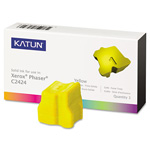 Katun 37977 Compatible Solid Ink Stick, 3,400 Page-Yield, Yellow, 3/Pk