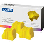 Katun 37993 Compatible Solid Ink Stick, 3,400 Page-Yield, Yellow, 3/Pk