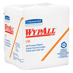 WypAll* L40 All Purpose Quarter Fold White Wipers