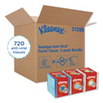 Kleenex Boutique Antiviral 3-Ply Facial Tissue, 4 Packs of 3 Boxes