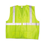 Jackson Safety ANSI Class 2 Deluxe Safety Vest, 3XL/4XL, Lime Green/Silver