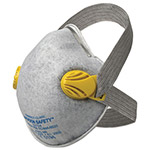 Jackson Safety R20 P95 Particulate Respirator with Nuisance Level Acid Gas Relief, P95, Yellow