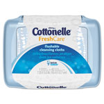 Kleenex Cottonelle Fresh Care Flushable Cleansing Cloths, White, 3.75 x 5.5, 42/Pack, 8 Packs/CT