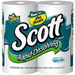 Scott Paper Rapid-Disolving Septic Safe 1-Ply Unscented Bulk Bathroom Tissue