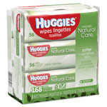 Huggies® Natural Care Baby Wipes, Unscented, White, 56/Pack, 3-Pack/Box, 3 Box/Carton