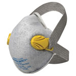 Jackson Safety R20 P95 Particulate Respirator w/Nuisance Level Organic Vapor Relief,P95,Yellow