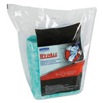 WypAll® Waterless Hand Wipes Refill Bags, Cloth, 10 1/2 x 12 1/4, Green, 75/Pack
