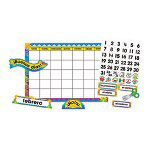 Carson Dellosa Publishing Company Monthly Calendar 43-Pocket Chart w/Day/Week Cards, Blue, 25w x 28 1/2h