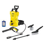 Karcher 1.25 GPM Compact Electric Pressure Washer with Car Care Kit, 1,600 PSI