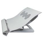 Kelly Computer Supplies Deluxe Aluminum Notebook Riser with Cooling Fan, Silver, 12 1/4 x 11 1/2 x 2 3/4