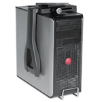 Kelly Computer Supplies Lockable CPU Holder, Black