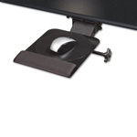 Kelly Computer Supplies Dual Swivel Adjustable Mouse Platform, 9-1/2w x 11d x 1h, Black