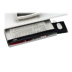 "Kelly Computer Supplies keyboard drawer with mouse, underdesk, 25""x19""x3"", gray/black"