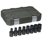 "Gearwrench 8 Piece 3/8"" Drive 6 Point SAE Universal Impact Socket Set"