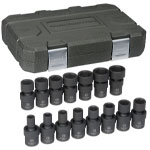 "KD Tools 15 Piece 3/8"" Drive 6 Point Metric Universal Impact Socket Set"
