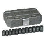 "KD Tools 12 Piece 1/2"" Drive 6 Point Metric Impact Socket Set"