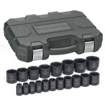 "KD Tools 19 PIece 1/2"" Drive 6 Point SAE Impact Socket Set"