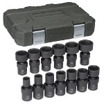 "Gearwrench 13 PIece 1/2"" Drive 6 Point SAE Universal Impact Socket Set"