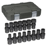 "KD Tools 15 PIece 1/2"" Drive 6 Point Metric Universal Impact Socket Set"