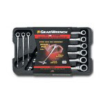 "Gearwrench 9 Piece SAE"" x Beam Ratcheting Combination Wrench Set"