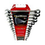 "Gearwrench GearWrench 13-Piece Ratcheting-Box Combo Wrench Set, SAE, 1/4"" to 1"", 12-Pt Box"