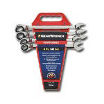 Gearwrench 4 Piece Reversible Gear Wrench Completer Set SAE