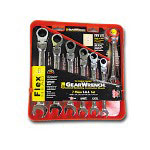 KD Tools 7 Piece SAE Flex Head Combination Gear Wrench Set