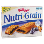 Kellogg's Nutri-Grain Cereal Bars, Blueberry, Indv Wrapped 1.3oz Bar, 48/Carton
