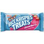 Kellogg's Rice Krispies Treats, Strawberry Marshmellow, 1.2oz Snack Pack, 20 Packs/Box