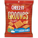 Keebler Cheez-it Grooves Crackers, Zesty Ranch, 3.25 Bag, 6/Box