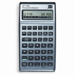 HP 17BIIPLUS Financial Calculator, Numeric, Algebraic, 10 Digit, Leather Pouch