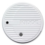 Kidde Safety Smoke Alarm, Flashing LED, 9V Battery Included, white