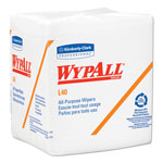 WypAll® L40 Wipers, White, Case of 18